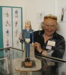 George Monger, with a dancing John Major, made by John Crane and loaned by Pete Coe