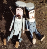 Two sailor dolls, made by Ben Southgate, Stowmarket, Suffolk